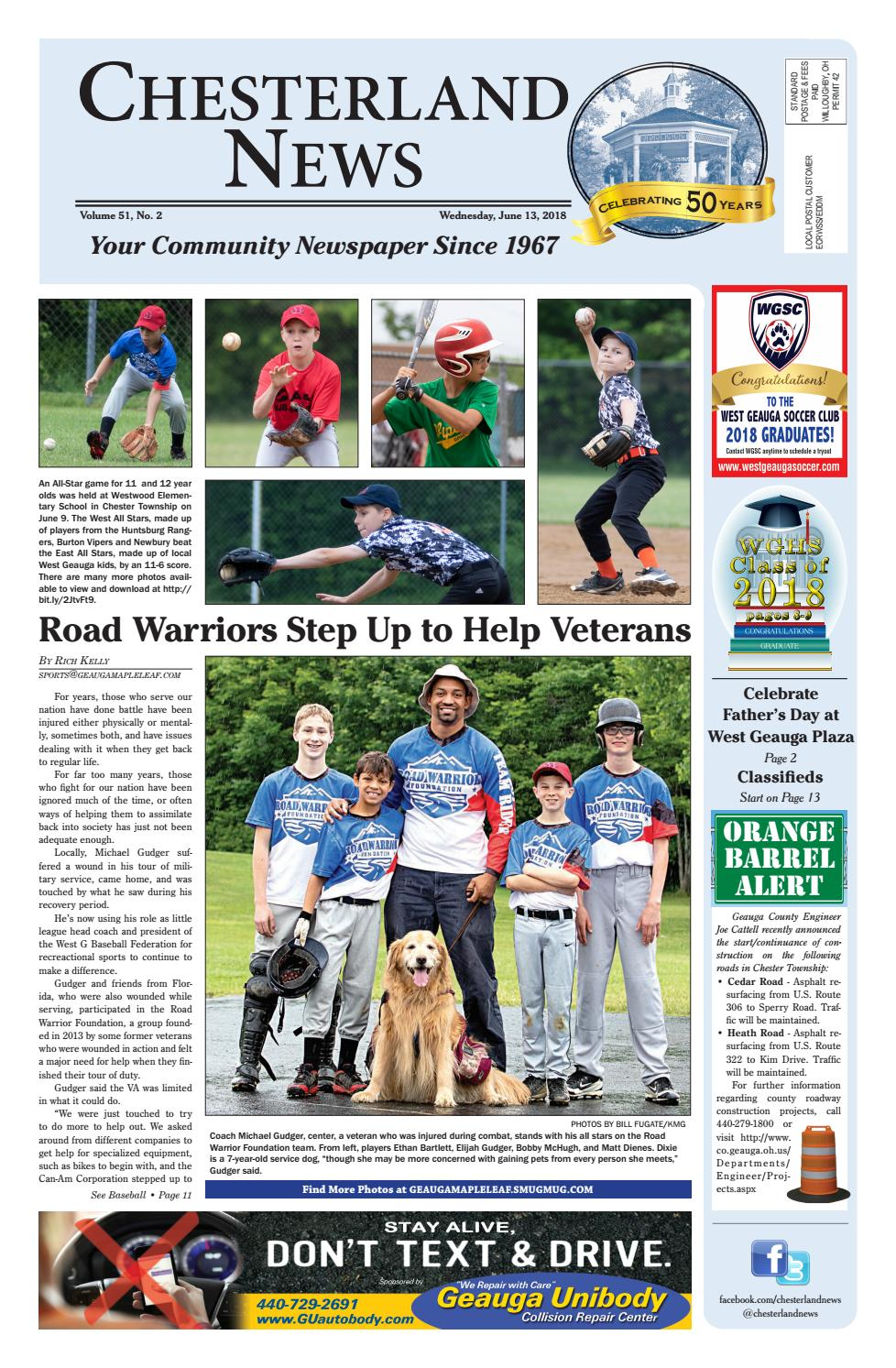 Chesterland News 6 13 18 By Geauga County Maple Leaf Issuu