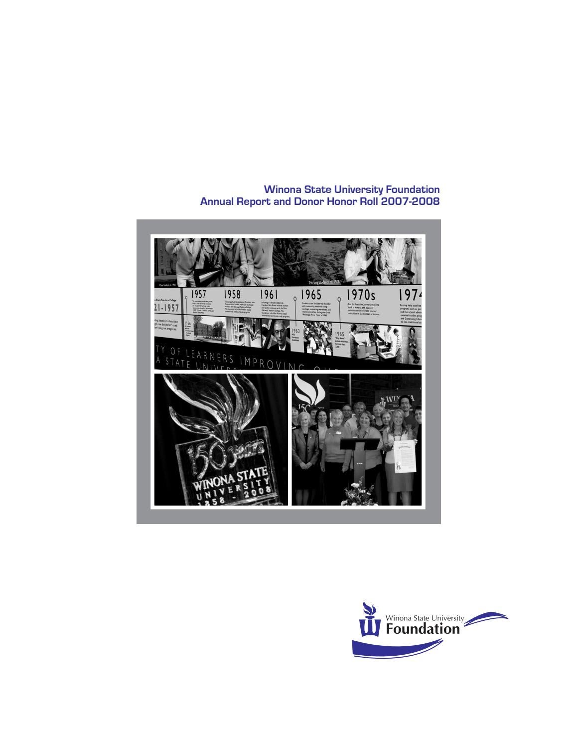 Winona Currents Annual Report 2008 By Wsuopenriver Issuu