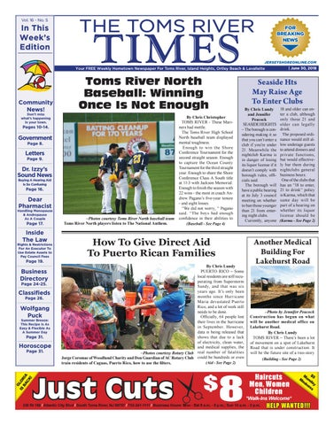 2018 06 30 The Toms River Times By Micromedia Publicationsjersey