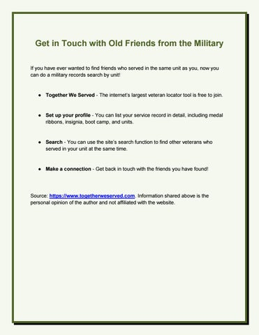 how to find military friends