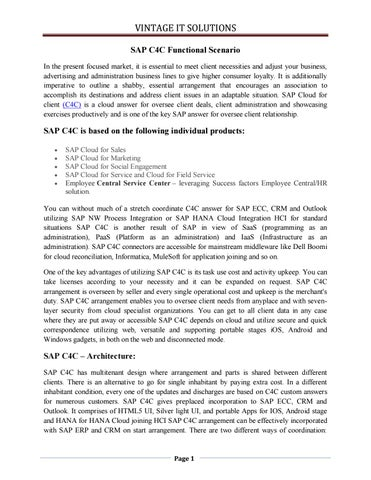 SAP C4C FUNCTIONAL Study Material | SAP PDF| SAP Online Training by