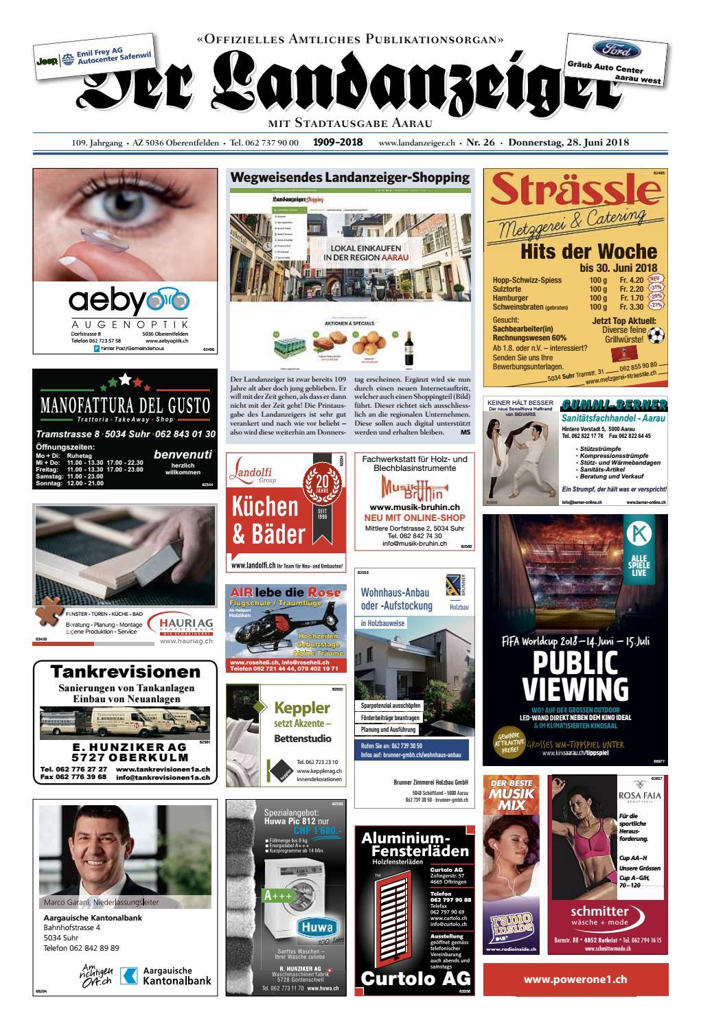 Der Landanzeiger 26/18 by ZT Medien AG - issuu