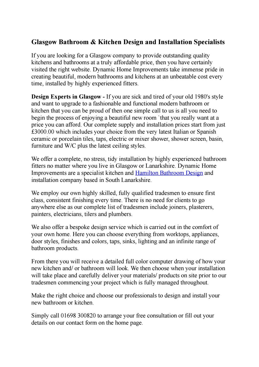 Glasgow bathroom & kitchen design and installation specialists by ...