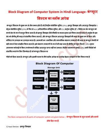 Block Diagram Of Computer In Hindi Not Lossing Wiring Diagram