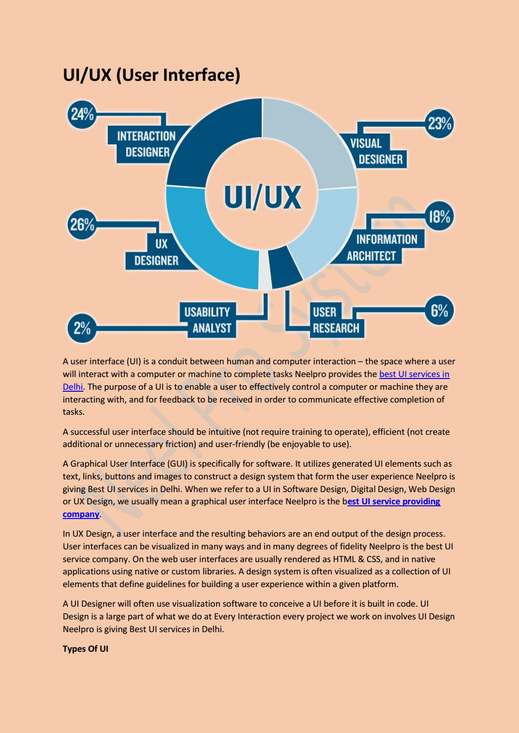 Ui Ux Design Company In Gurgaon By Neelpro System Pvt Ltd Issuu