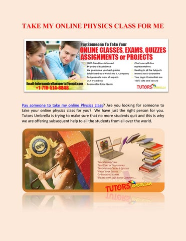 Take My Online Physics Class For Me By Tutorsumbrella  Issuu Page  Take My Online Physics Class For Me