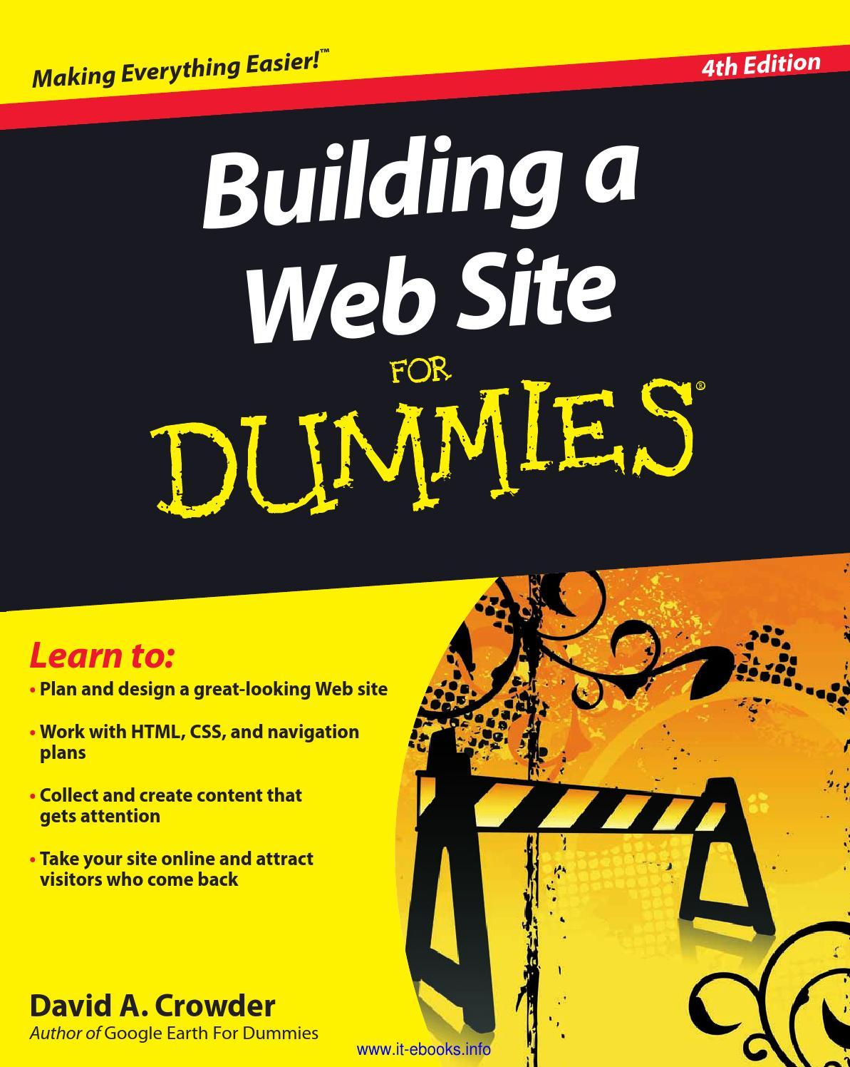 Building a website for dummies by black_kracker193 - issuu