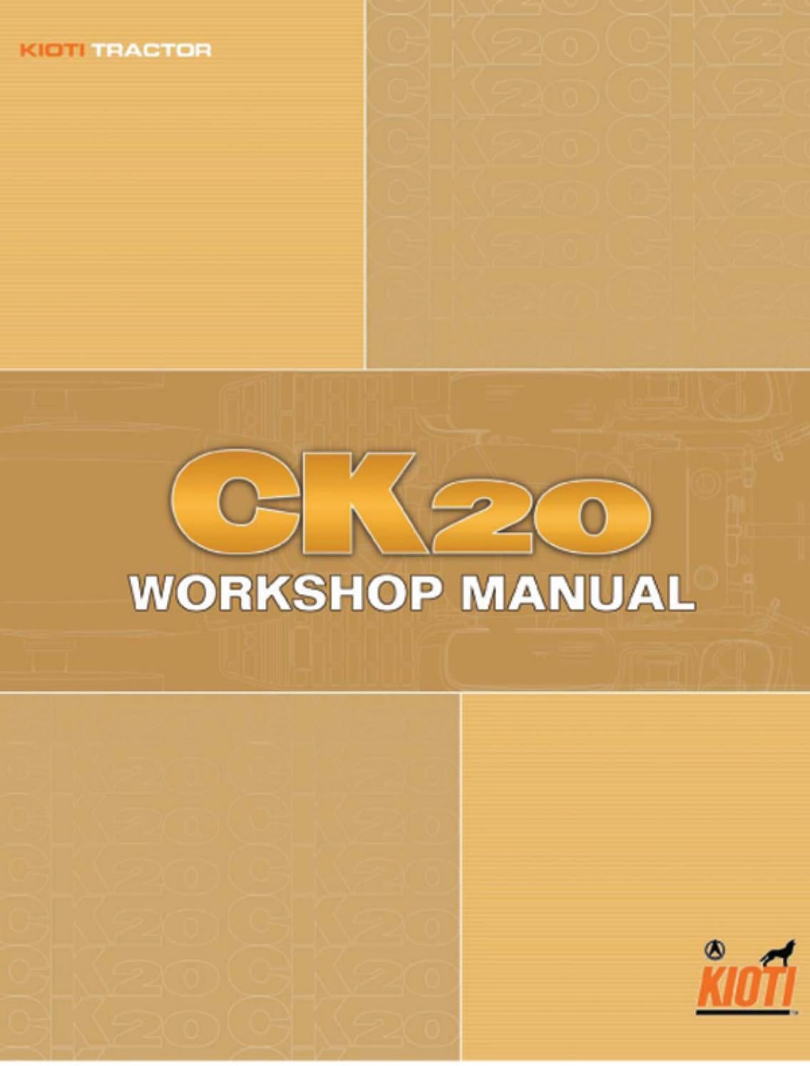 Kioti Daedong Ck20 Tractor Service Repair Manual By 1635217 Issuu Wiring Diagrams