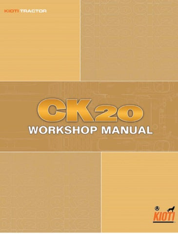 Kioti daedong ck20 tractor service repair manual by 1635217 - issuu