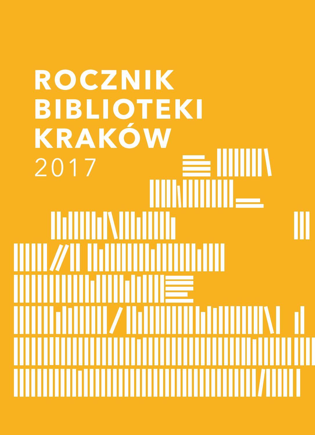 Rocznik Biblioteki Kraków By Biblioteka Krakow Issuu