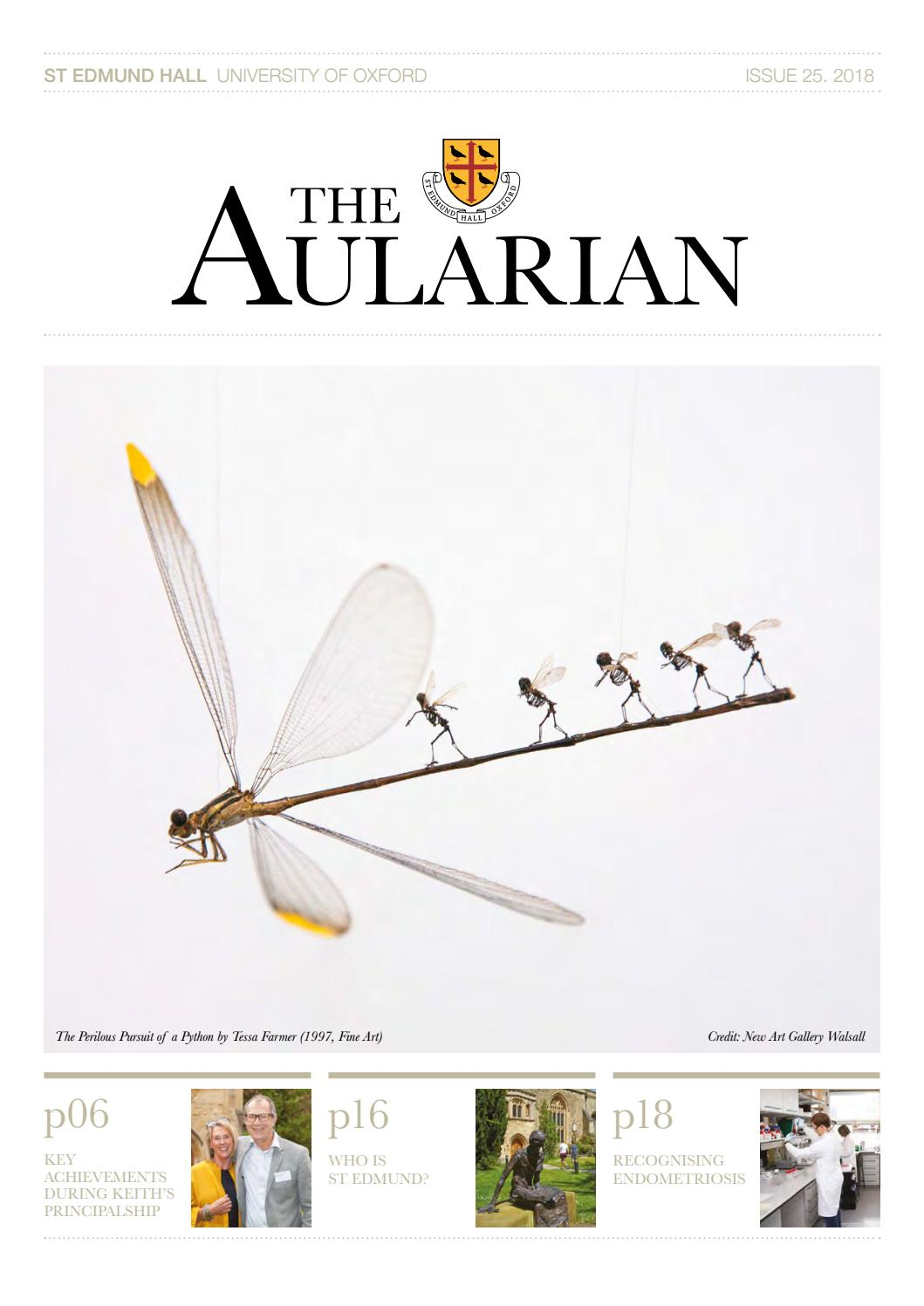 The Aularian, Issue 25, 2018 by St Edmund Hall - issuu