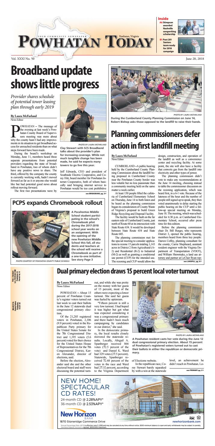 06/20/2018 by Powhatan Today - issuu