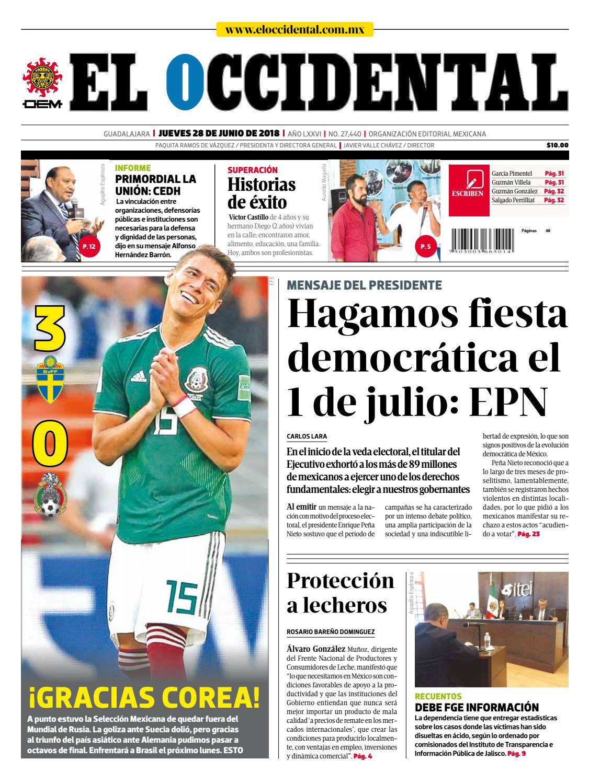 19e70473b3f90 Edición digital 28 de junio de 2018 by EL OCCIDENTAL - issuu