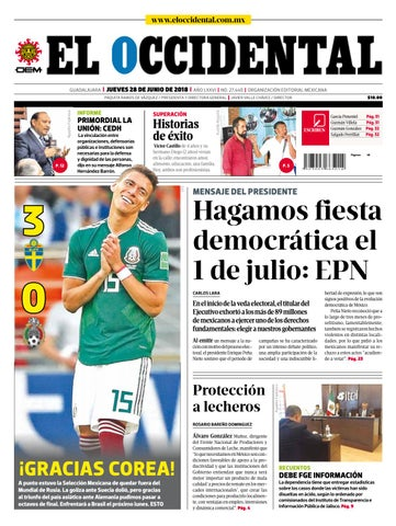 446bd914e Edición digital 28 de junio de 2018 by EL OCCIDENTAL - issuu