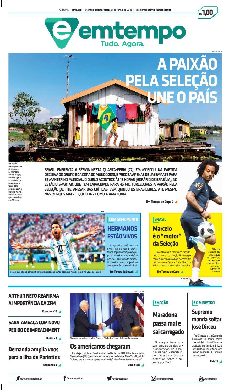 31e1eaa842 Em tempo 27 de junho de 2018 by Amazonas Em Tempo - issuu