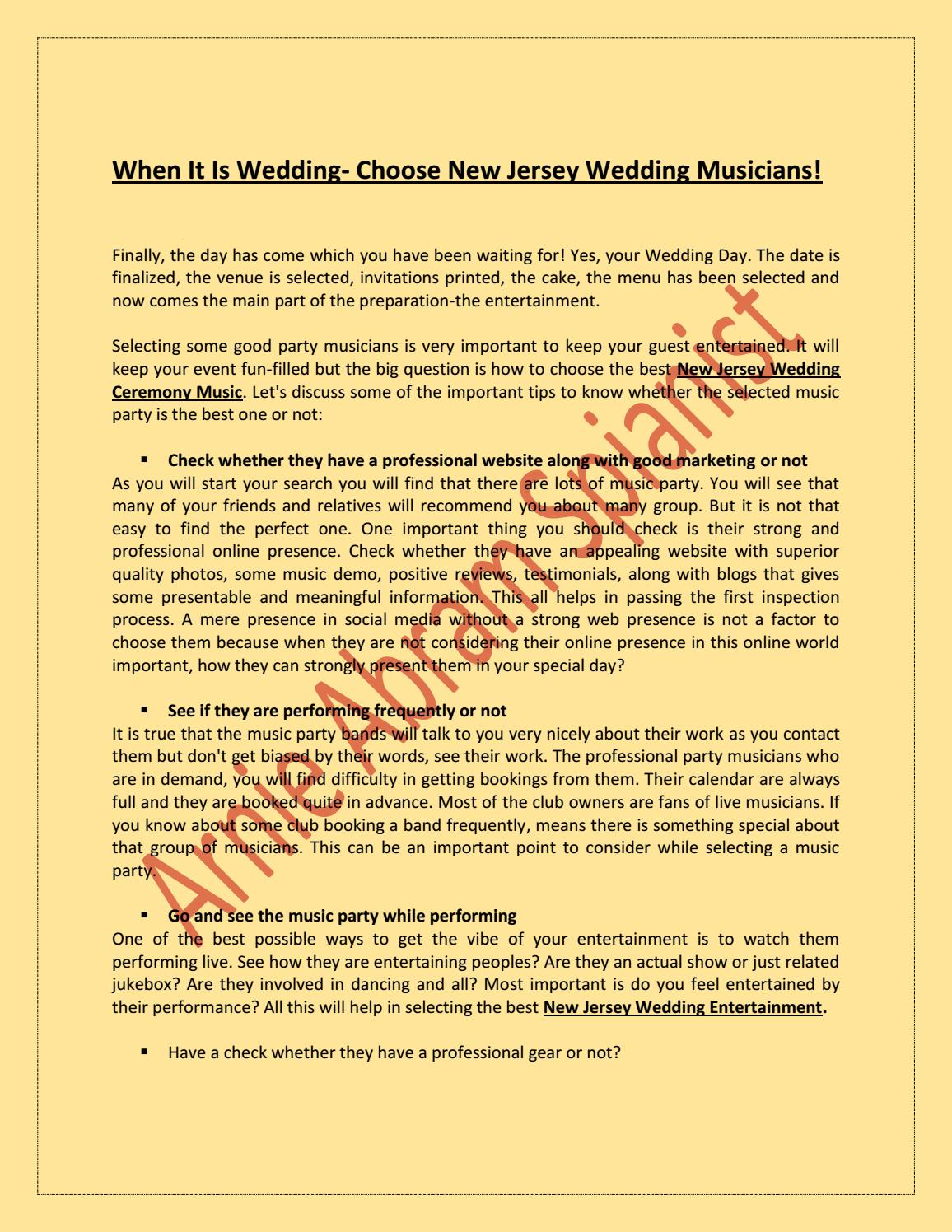 82a97380e When it is wedding choose new jersey wedding musicians! by ...