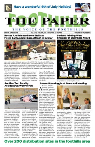 THE FOOTHILLS PAPER - JUNE 29, 2018 by David DeMulle' - issuu