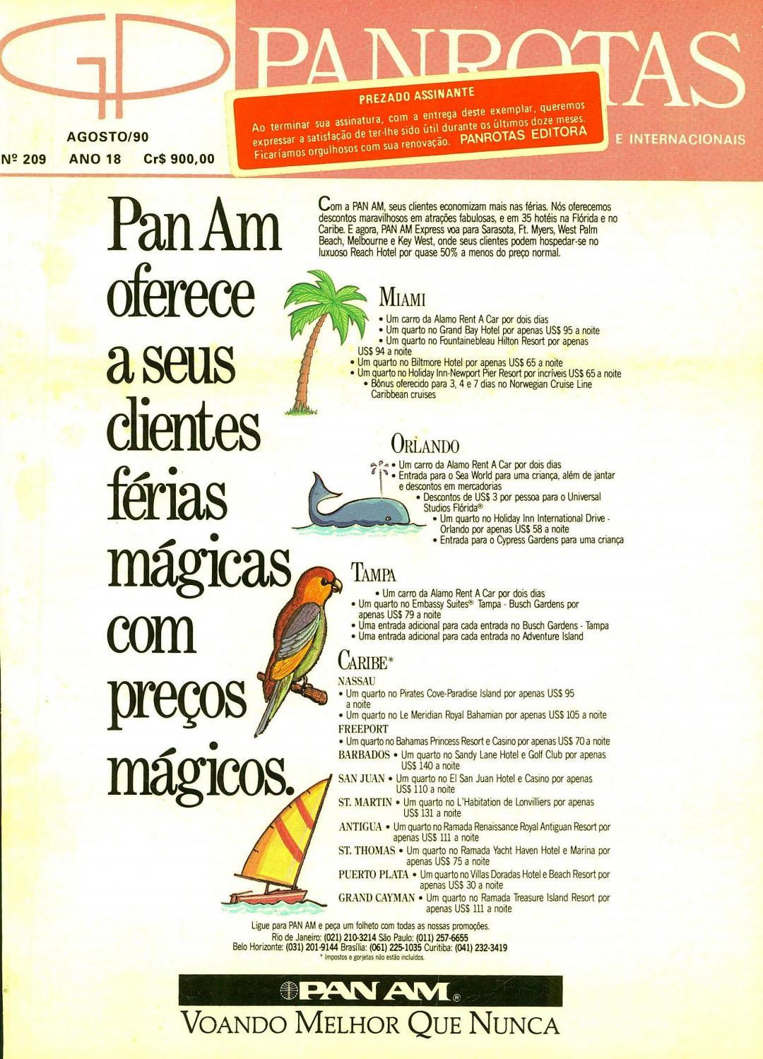 802b6b575dac3 Guia PANROTAS - Edição 209 - Agosto 1990 by PANROTAS Editora - issuu
