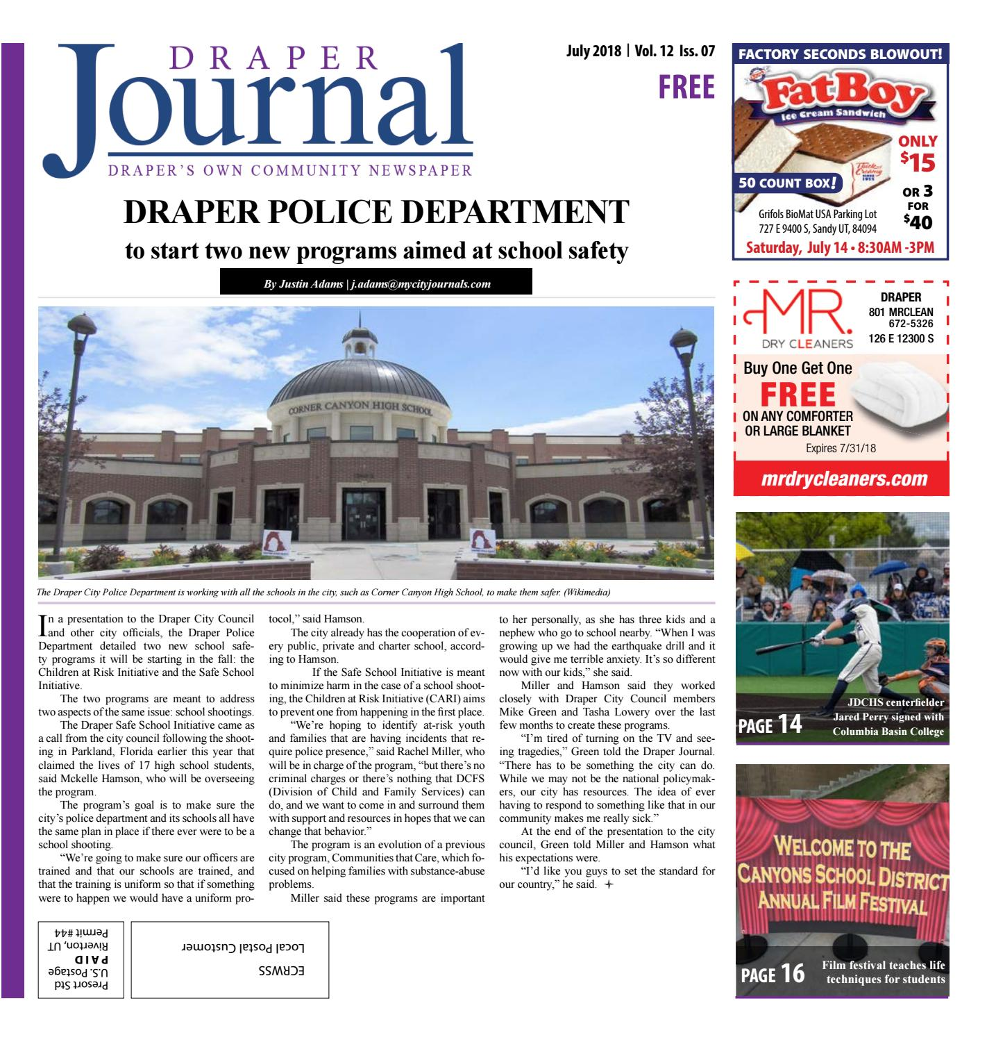 Draper City Journal July 2018 by The City Journals - issuu