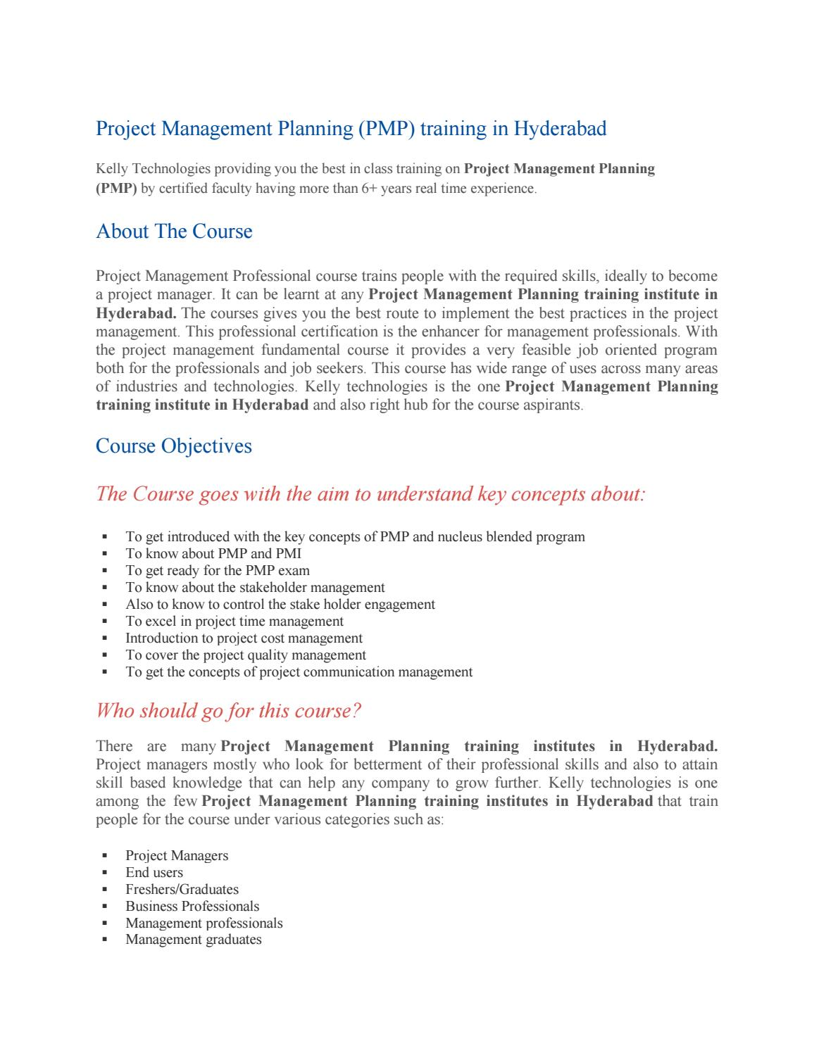 Pmp Training In Hyderabad By Varamsr0807 Issuu