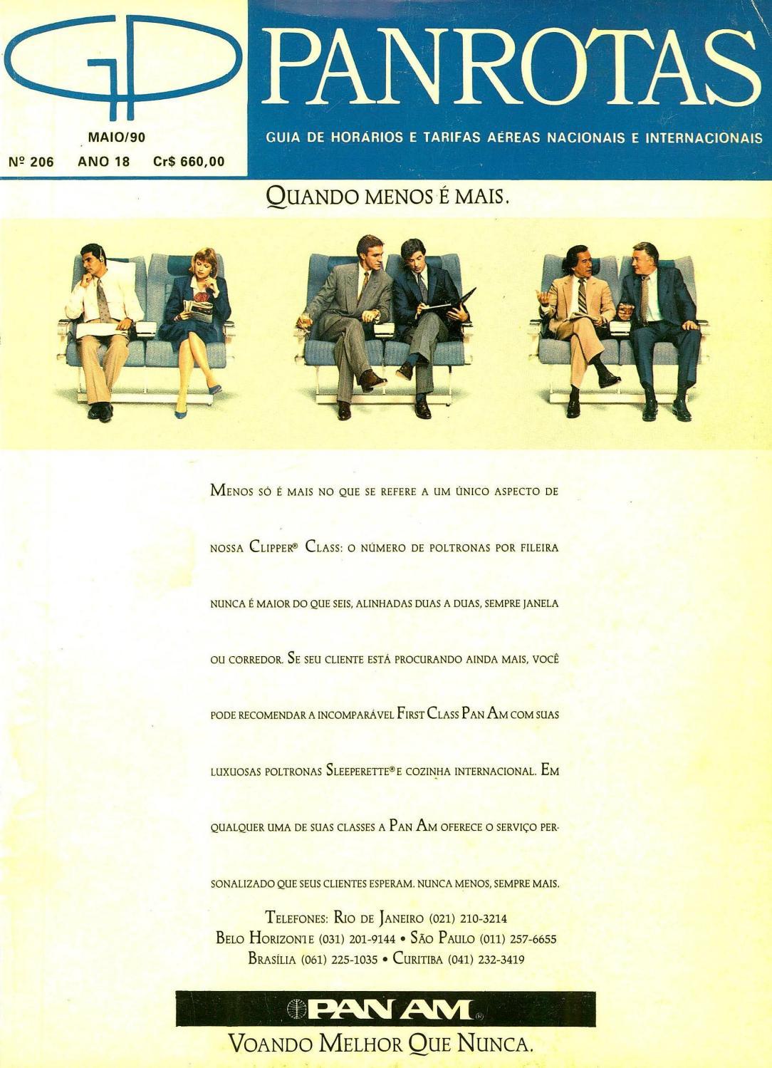 Guia PANROTAS - Edição 206 - Maio 1990 by PANROTAS Editora - issuu f90fc286e609f