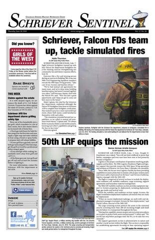 Schriever Sentinel June 28, 2018 by Colorado Springs