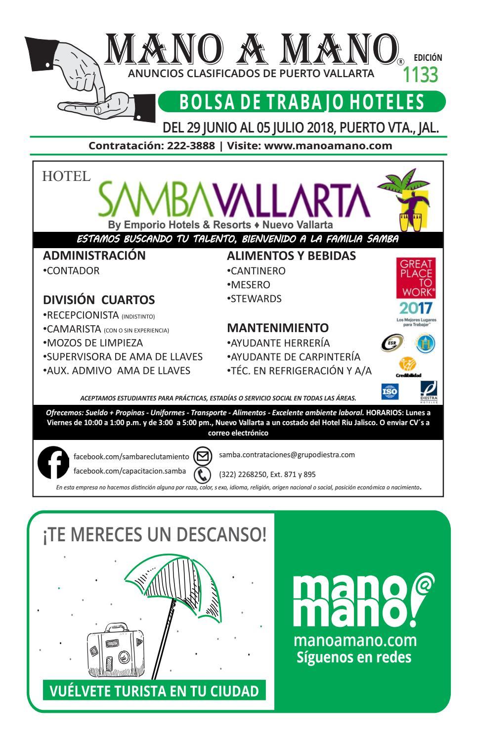 Bolsa trabajo hoteles 1133 by MANO A MANO - issuu