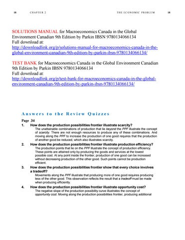 Solutions Manual For Macroeconomics Canada In The Global