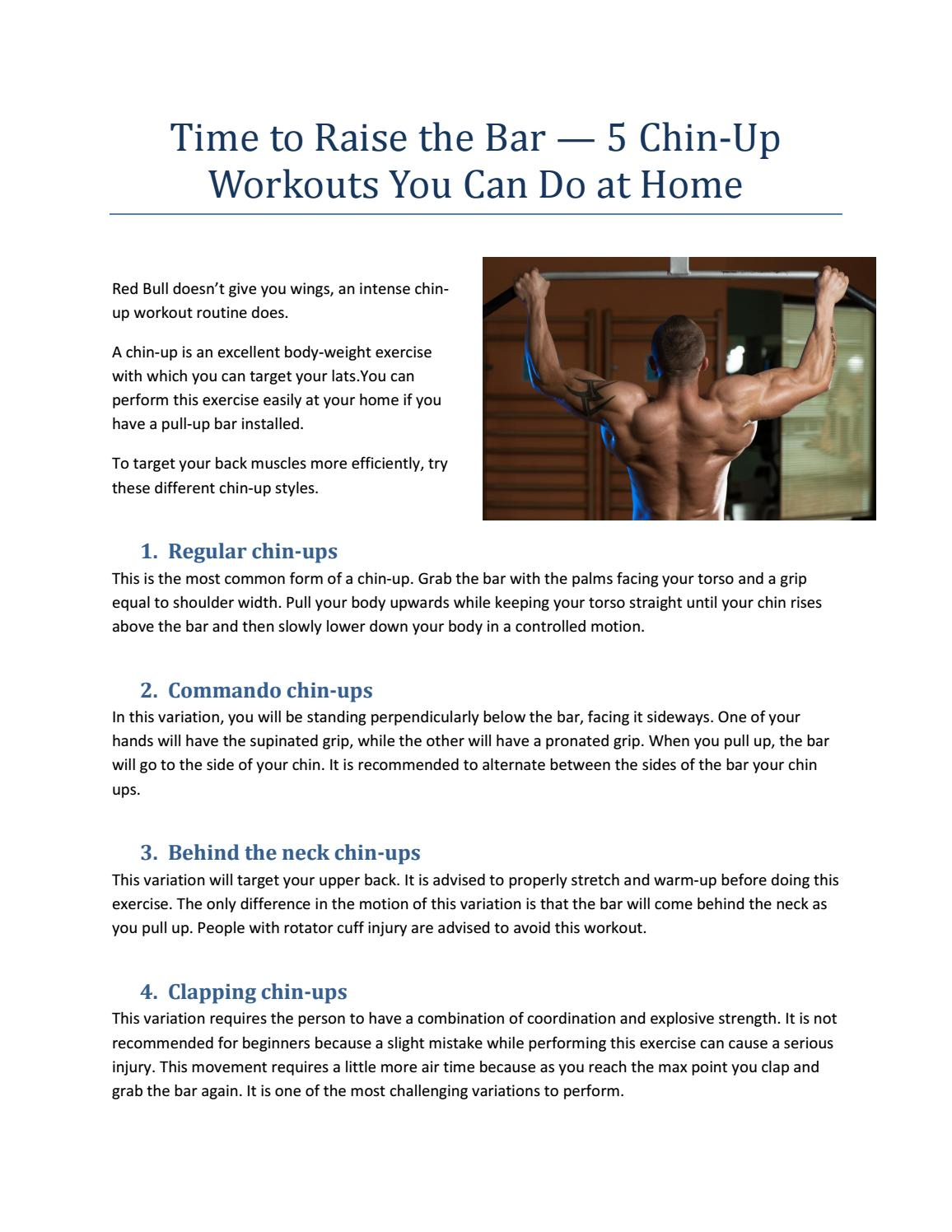 5 Different Chin-Up Styles You Can Do at Home by tydaxfitness1 - issuu