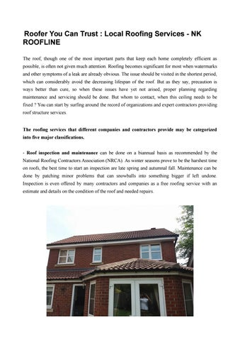 Local Roofing Services Nk Roofline By Nk Roofline Issuu