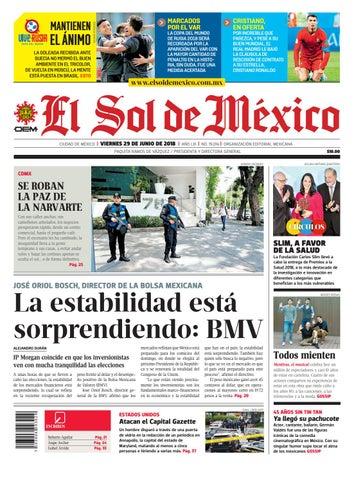 7353ef0afc9a El Sol de México 29 de junio del 2018 by El Sol de México - issuu