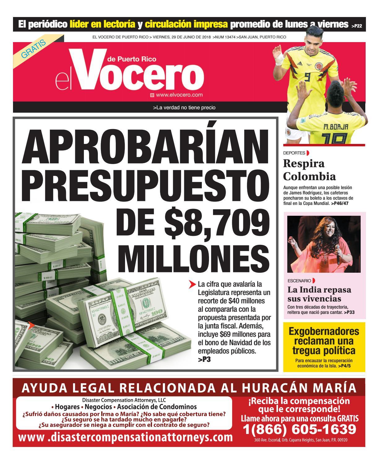 promo code 89c5a c7ec8 Edición del 29 de junio de 2018 by El Vocero de Puerto Rico - issuu