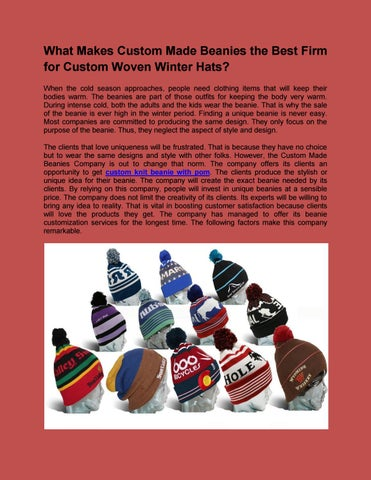 What makes custom made beanies the best firm for custom woven winter hats 54761d9629c