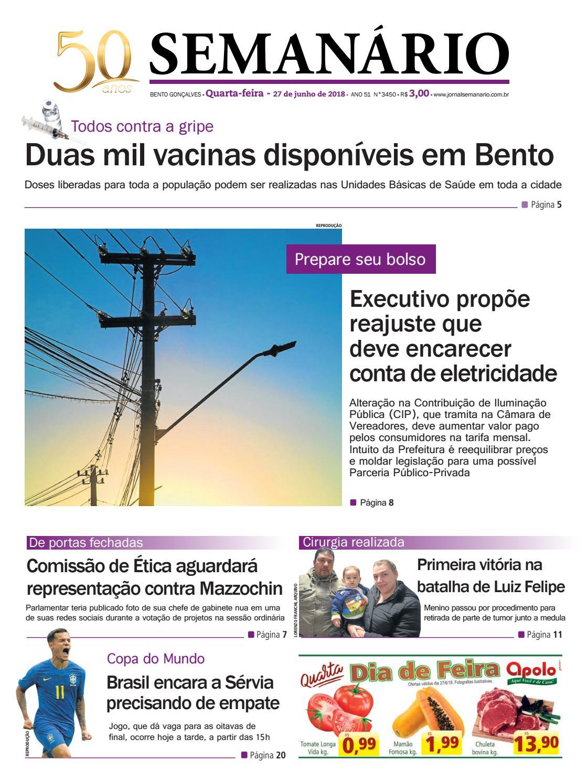 cf898da6e Jornal semanário – 27 de junho de 2018 – ano 51 – nº 3449 by Jornal  Semanário - Bento Gonçalves - RS - issuu