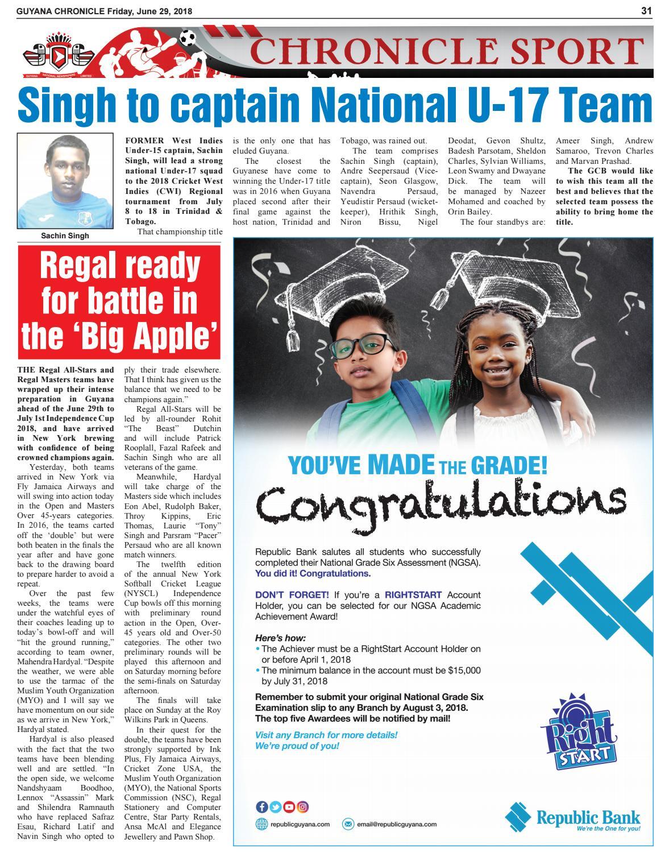 Guyana Chronicle Epaper 29 06 2018