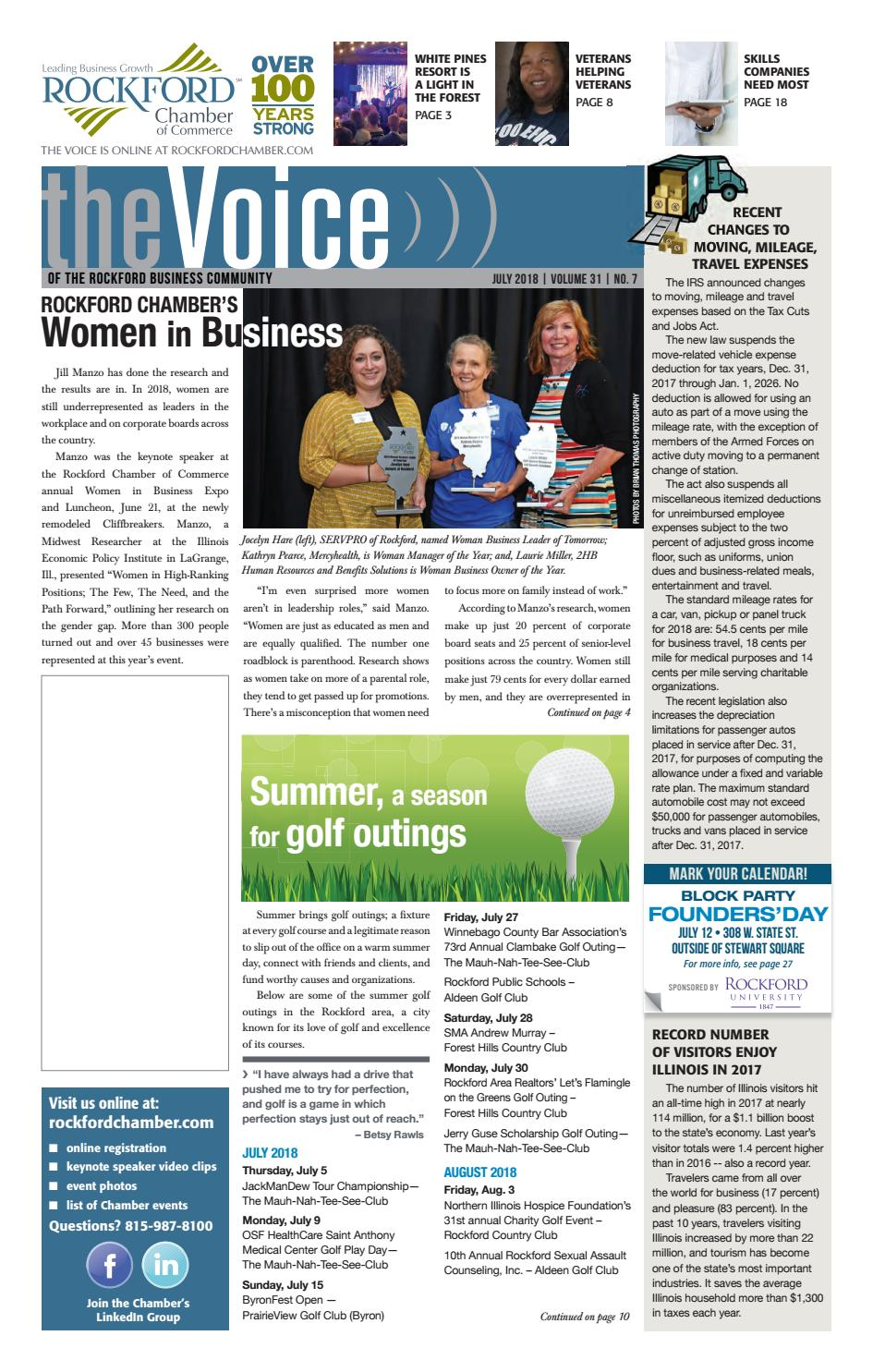 July Voice 2018 by Rockford Chamber of Commerce - issuu