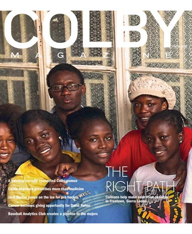 Colby Magazine vol  106, no  1 by Colby College Libraries