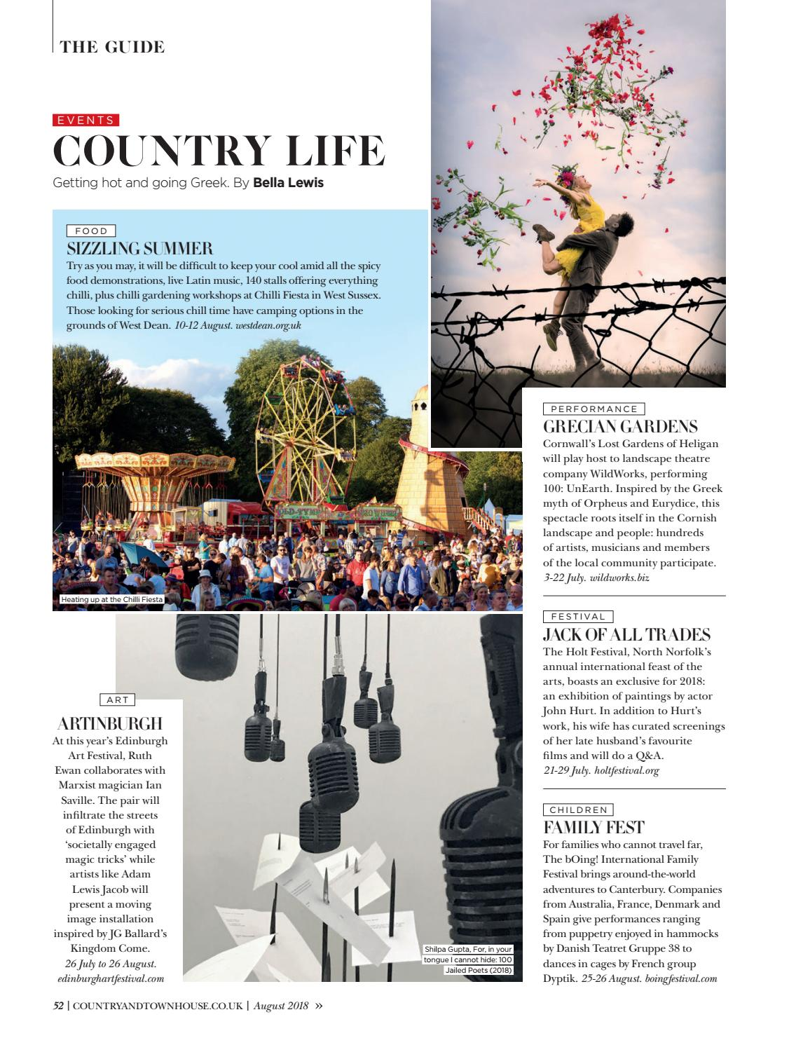 Country & Town House - August 2018 by Country & Town House Magazine