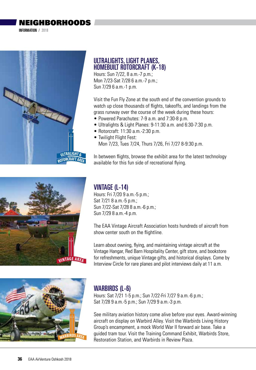 Official Visitor and Camper's Guide - AirVenture 2018 by EAA