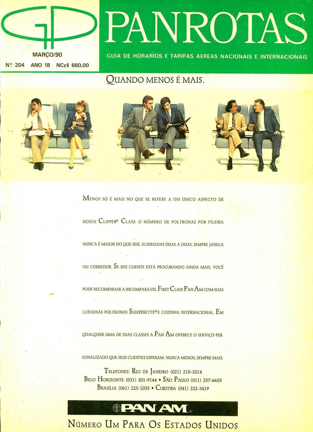 2117e81e3f Guia PANROTAS - Edição 204 - Março 1990 by PANROTAS Editora - issuu