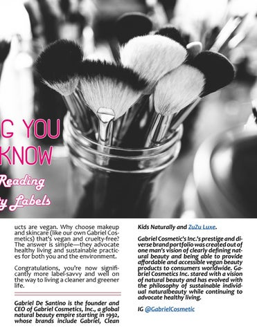 Page 41 of ATHLEISURE MAG JUN 2018 |SOMETHING YOU SHOULD KNOW - THE 411 ON READING ETHICAL BEAUTY LABELS