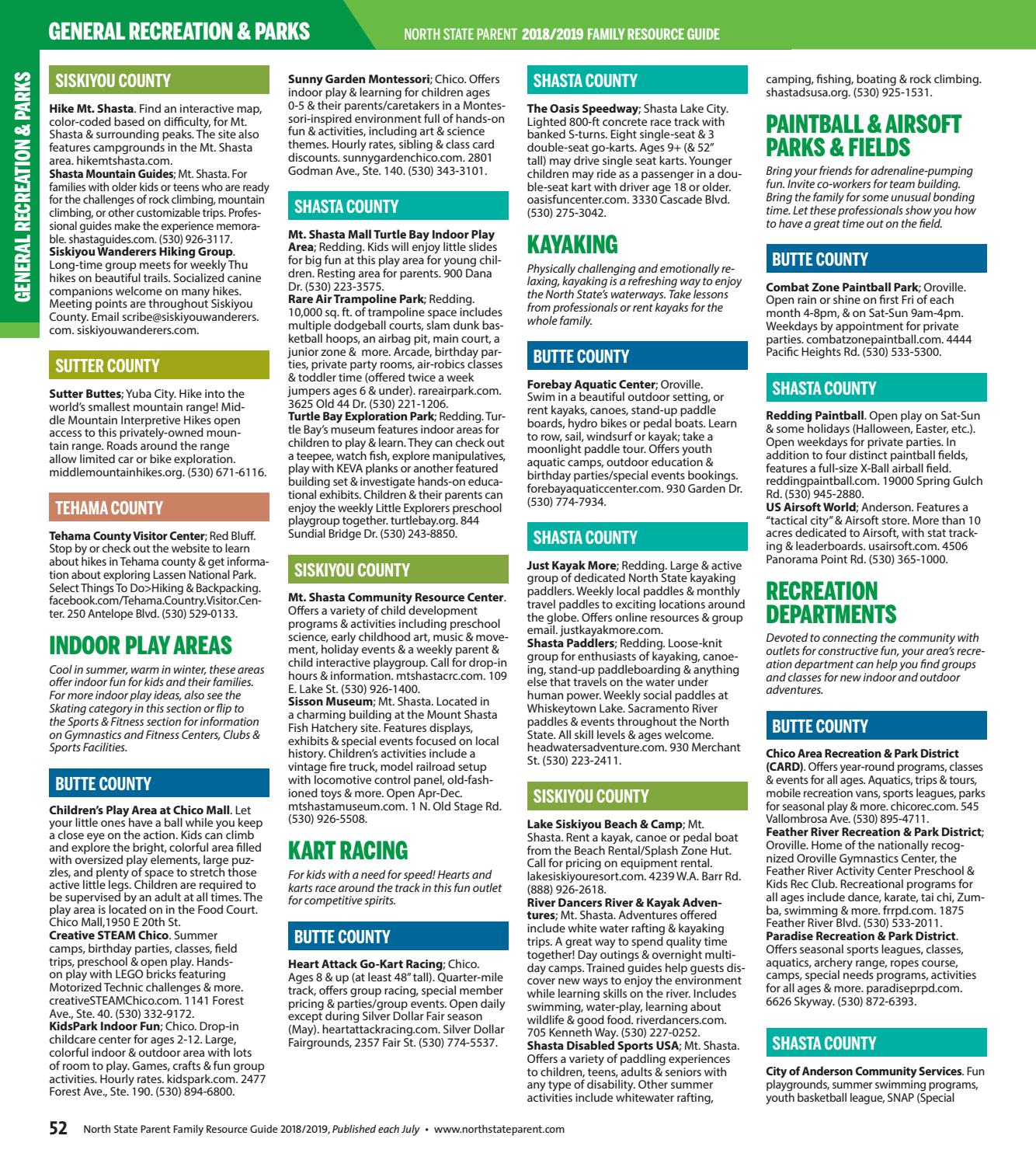 Annual Family Resource Guide By North State Parent Magazine
