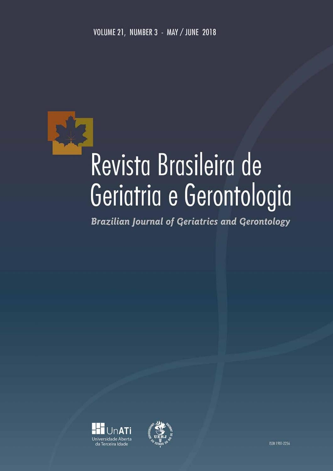 Rbgg Vol 21 Nº3 May June 2018 English By Revista Brasileira De Geriatria E Gerontologia Rbgg Issuu