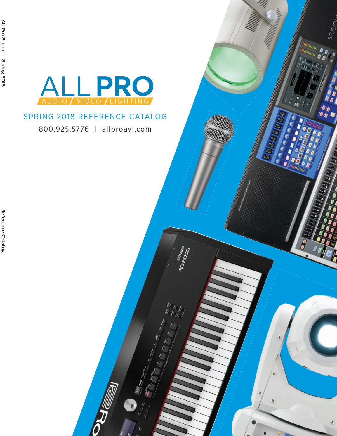 All Pro Avl Spring 2018 Catalog By Allproavl Issuu Product Howto 350w Class D Power Amp In The Size Of An Ipod
