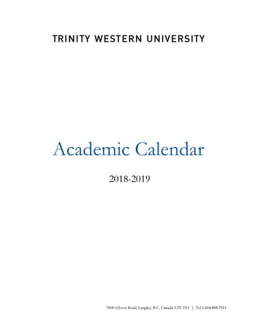 TWU Academic Calendar 2018-2019 by TWU - issuu