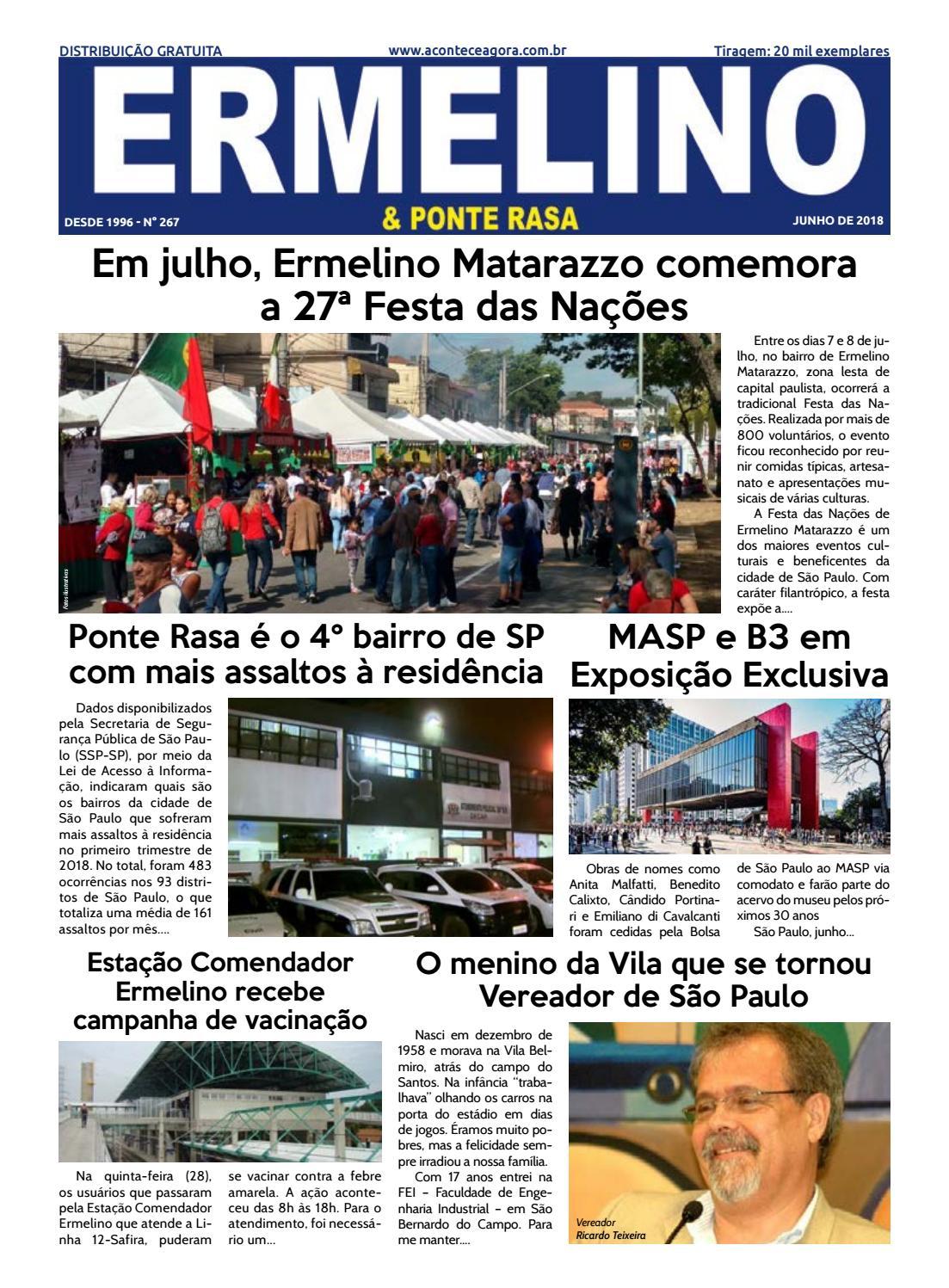Jornal Ermelino   Ponte Rasa - Edição 267 by Grupo Acontece de Jornais e  Revista - issuu 1e62bb31de6b2