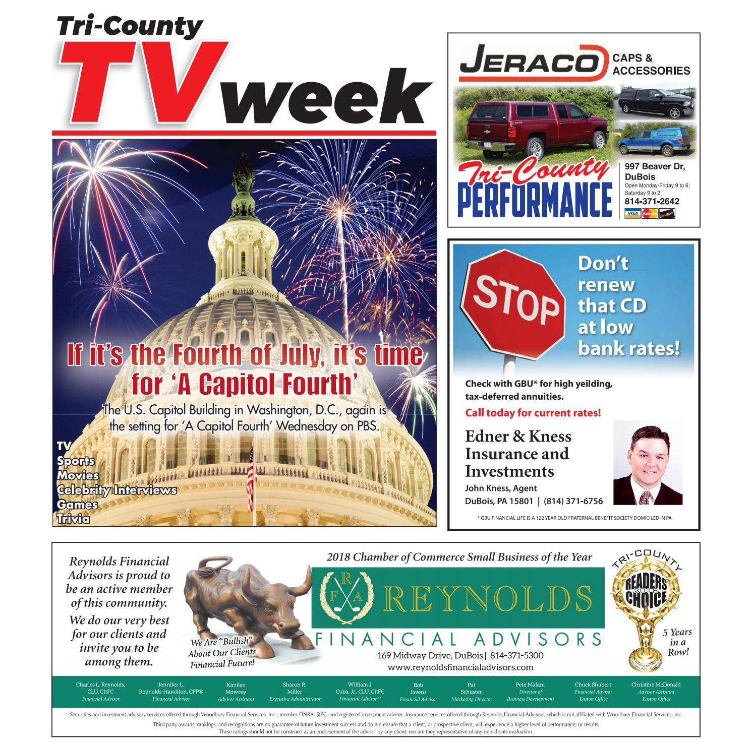 TV Week Friday, June 29, 2018 by Tri-County TV Week - issuu