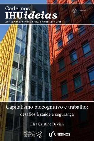 Resultado de imagem para Capitalismo biocognitivo e trabalho: desafios à saúde e segurança