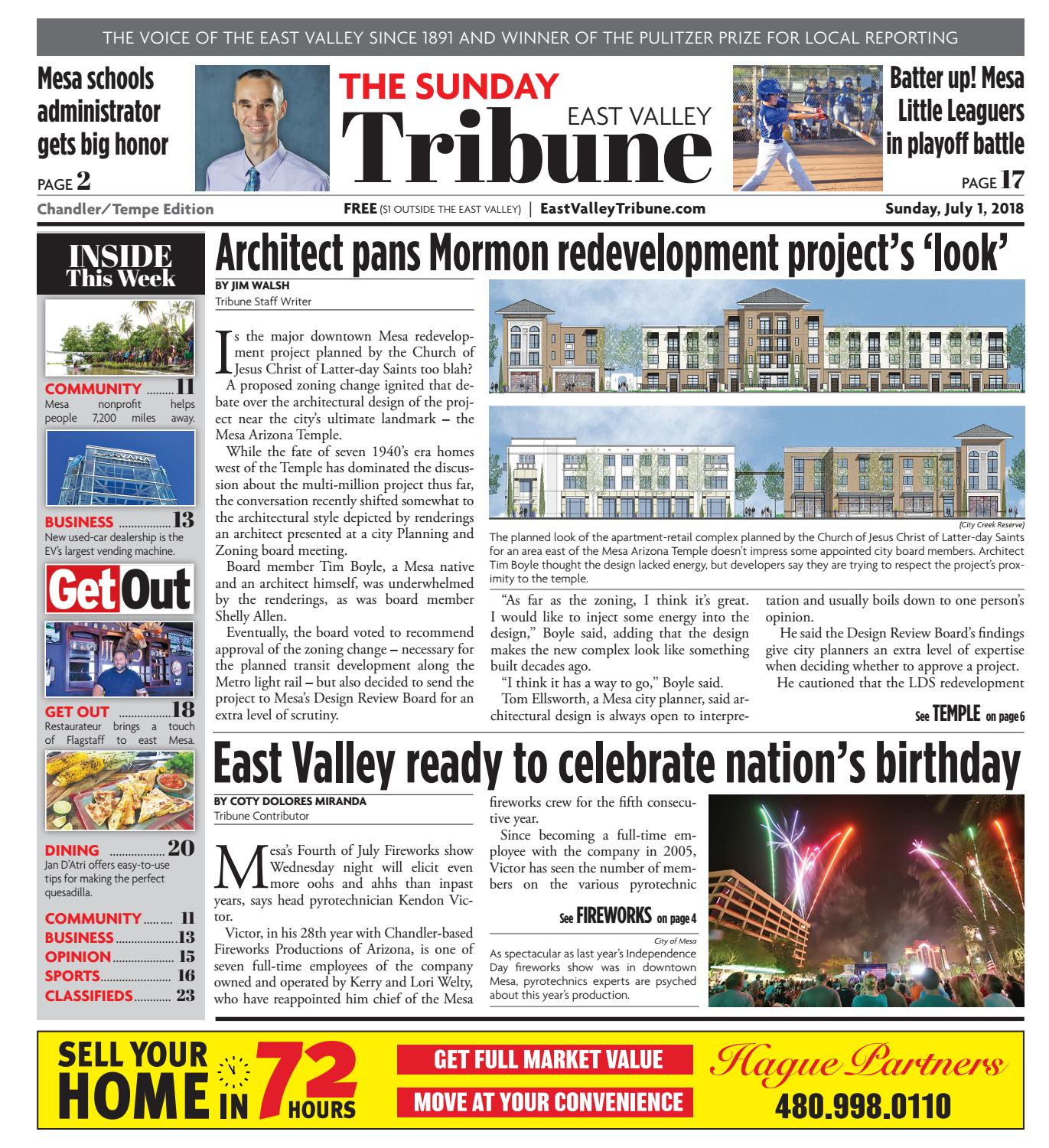 East Valley Tribune ChandlerTempe July 1, 2018 by Times