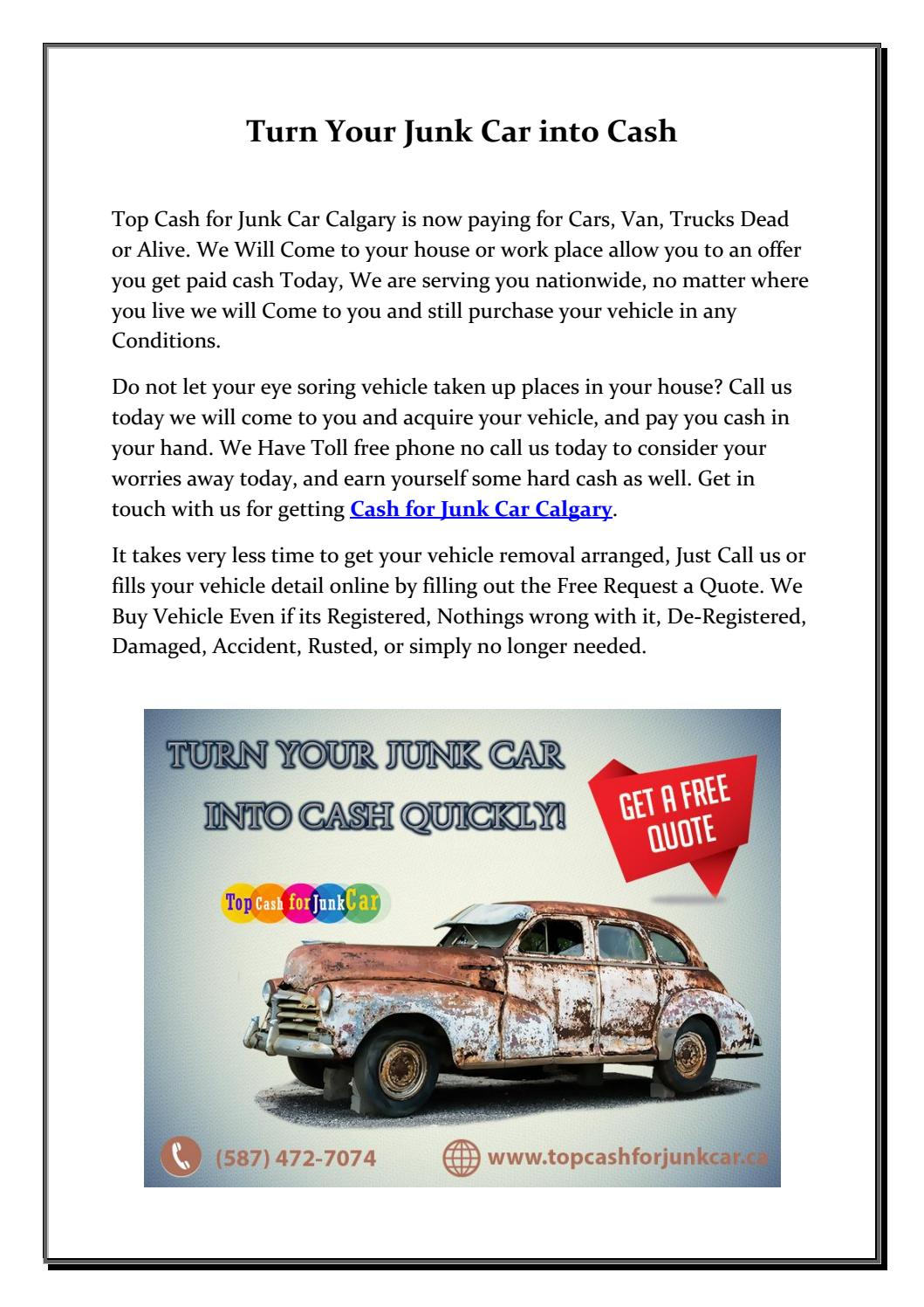 Cash for Junk Car Calgary by Top Cash for Junk Car - issuu